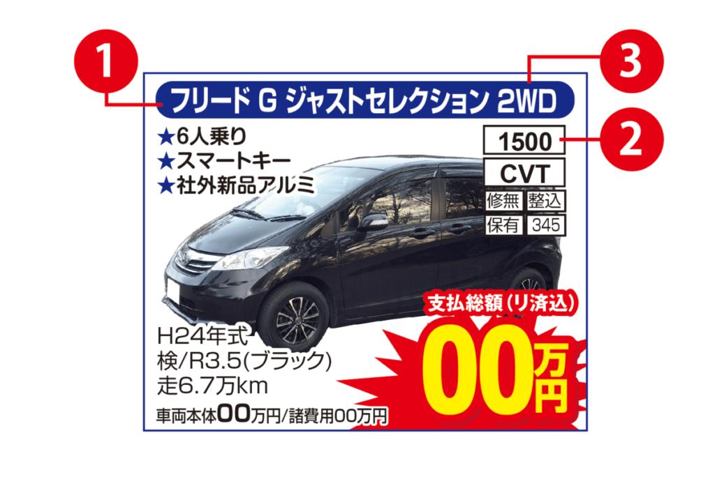 中古車広告サンプル
